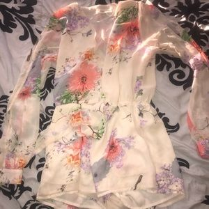 LONG SLEEVE ROMPER FLORAL SEXY SUMMER